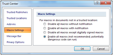 Interleaved 2of5 Access Macro Setting