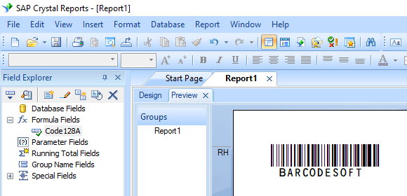 Generate Code 128 barcodes in MS Access Database, MS Excel
