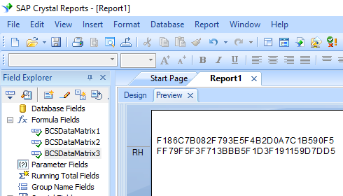 data matrix crystal reports UFL