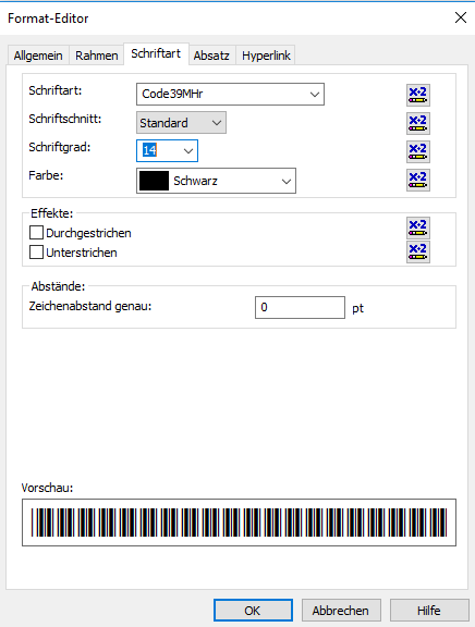 Code39 barcode crystal reports formelfelder