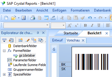 gs1-Databar barcode crystal reports