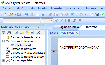 intelligent-mail código de barras crystal reports fórmula campo