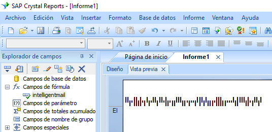 intelligent-mail código de barras crystal reports