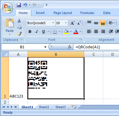 Generate QRCode in MS Access, MS Excel, and Crystal Reports