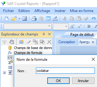 code à barres codabar create formule crystal reports