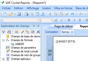 code25 barcode crystal reports UFL