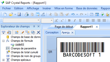 code93 code barres crystal reports