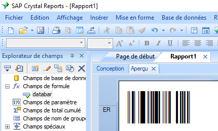 GS1-Databar code barres crystal reports