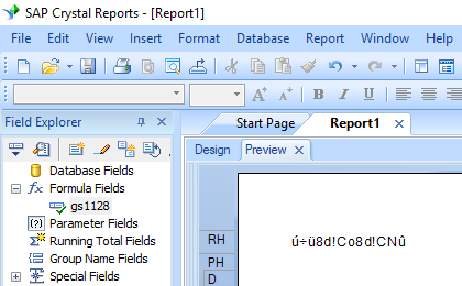 GS1128 barcode crystal reports formula field