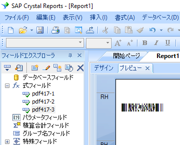 PDF417 crystal reports