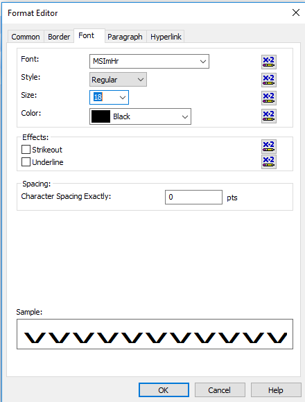 MSI barcode font crystal reports