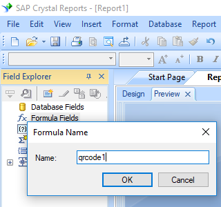 qrcode create formula in crystal reports